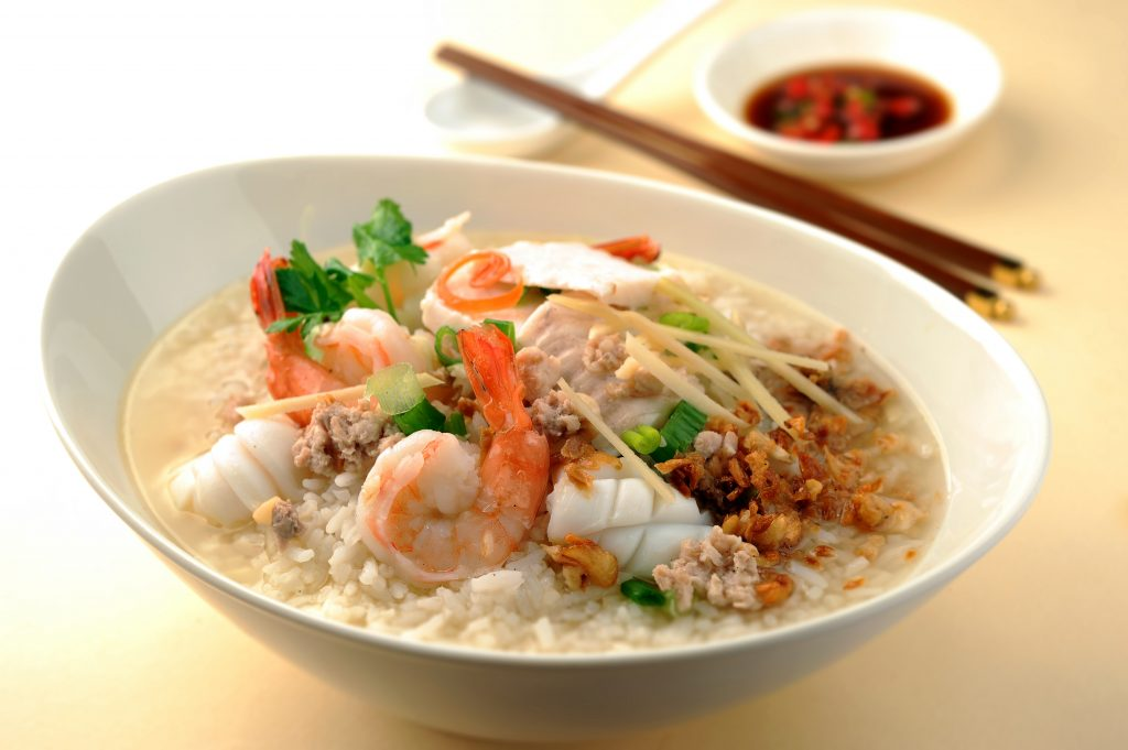 Thai seafood rice soup for Thai fish soup
